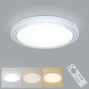 Led Ceiling Light Oowolf 40w 15 4 Inch 3000 6000k Dimmable Led Fixture Lamp Brightness Adjustable Ceiling Light With Remote For Bedroom Kitchen Living Room Balcony Stairways Amazon Com