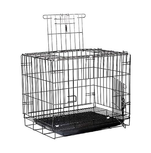 GDDYQ Jaula para Perros, Cerca de 2 Puertas para Mascotas, Caja ...