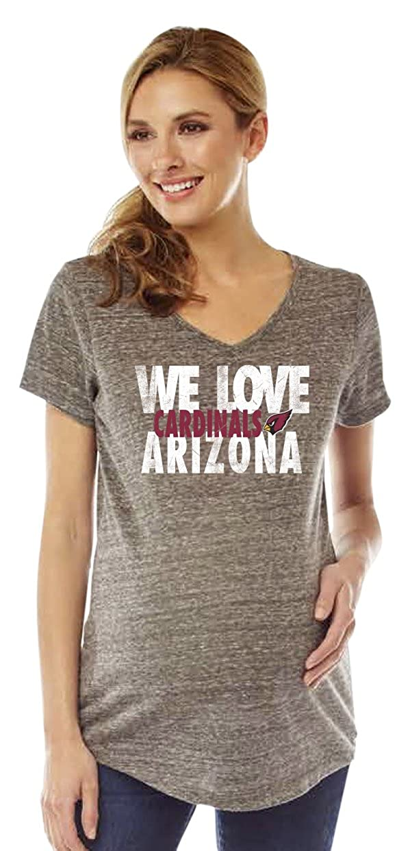 e90a8b656424b Amazon.com : Soft As A Grape NFL Womens Maternity V-Neck Short Sleeve Tee :  Clothing