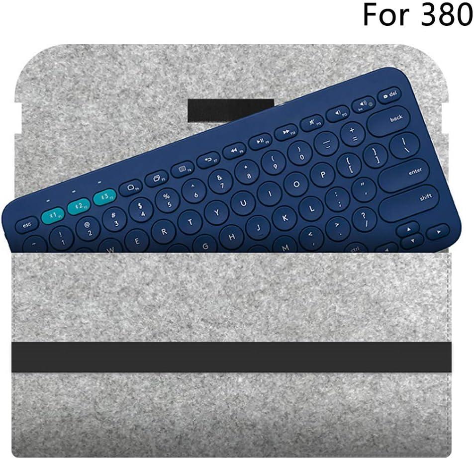 pour 480Gris fonc/é Matedepreso Clavier Sac Stockage Feutre Accessoires Protection /Étui Protection Portable Anti Shock Couverture Flexible Voe Compact pour Logitech K480