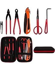 VOLKWELL 6pcs Bonsai Tools Trimming Kit Carbon Steel Versatile Gardening Plant Scissors Cutter Equipment & Case Kit