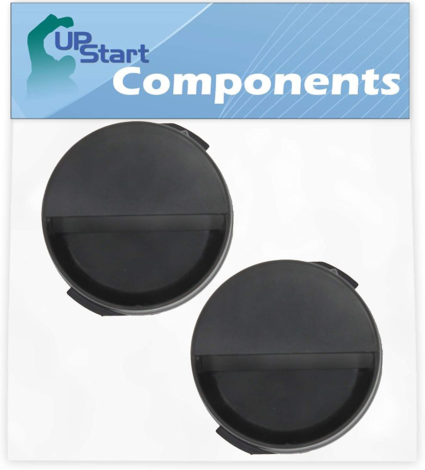 2-Pack 2260502B Refrigerator Water Filter Cap Replacement for Whirlpool ED2KHAXVS02 Refrigerator - Compatible with WP2260518B Black Water Filter Cap - UpStart Components Brand