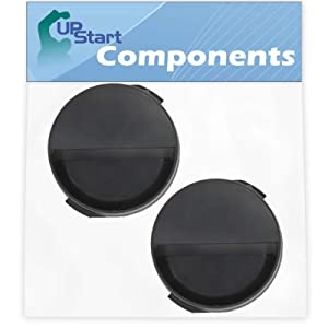 2-Pack 2260502B Refrigerator Water Filter Cap Replacement for Whirlpool ED2KHAXVT01 Refrigerator - Compatible with WP2260518B Black Water Filter Cap - UpStart Components Brand
