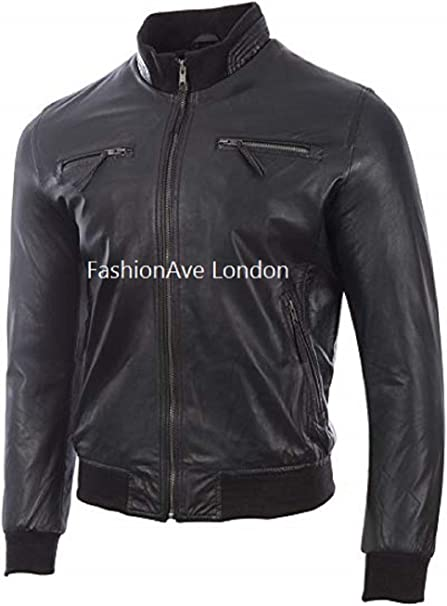 FashionAve London Mens Brown 100/% Real Leather Hero Jacket