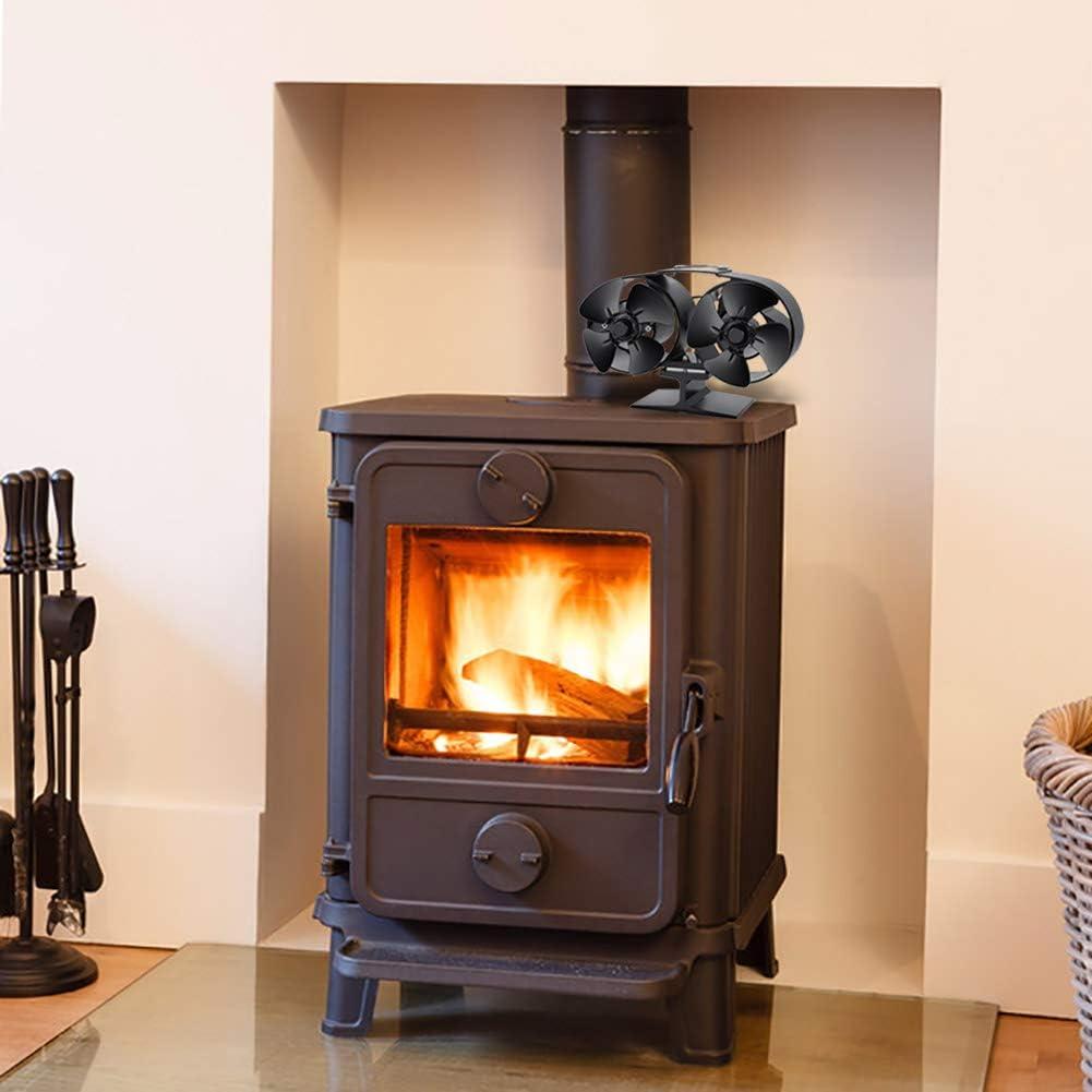 Fyore chimenea ventilador de estufa 8 aspas ambiental chimenea ...