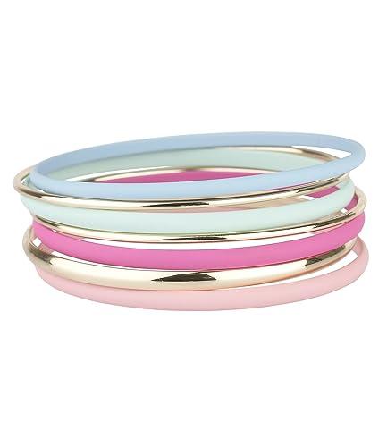 Six Trend Set Aus 7 Verschiedenen Arm Reifen In Pastell Tonen Rosa