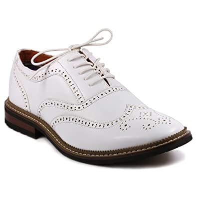 e35f4cb8e66 Metrocharm MET525-2 Men s Perforated Wing Tip Lace Up Oxford Dress Shoes