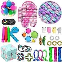KKPLZZ 30PCS Bubble Sensory Fidget Toy Set, Push Bubble Toy Sets, Anti-Anxiety Sensory Toys Simple Bubble Toys for…