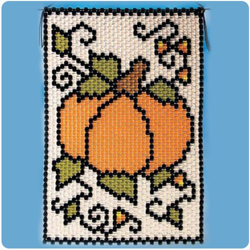 (Fall Pumpkin Beaded Banner Kit - The Beadery Craft Products - 5680)