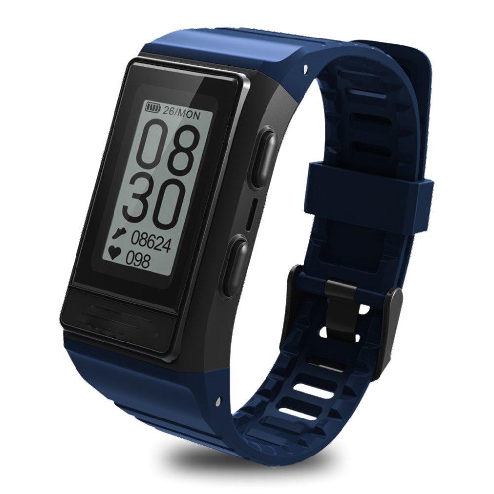 hmhopeスマートブレスレットFitness Tracker GPS歩数計ハートレートモニターmulti-sportモード防水アウトドア表示画面AndroidとiOSの Tracker、ブルー B07B7HTR1P B07B7HTR1P, プロショップ RBS:46895c13 --- arvoreazul.com.br