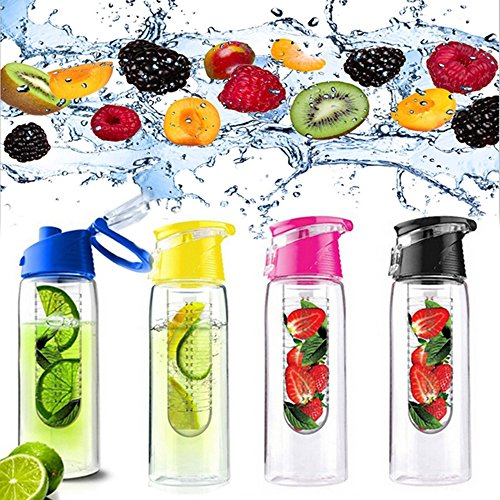700ML Flesh Fruit Water Bottle Sports Health Lemon Juice Make Bottle Office Outdoor Cycling Camping Flip Lid Cup (2 Old Germany Stein)