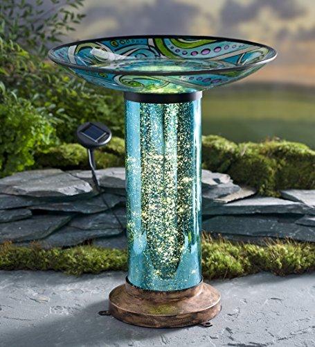 (Glass Fish-Motif Birdbath)