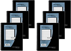 Mead Cambridge Wirebound Business Notebook, Legal Rule, 6 5/8 x 9 1/2 Inches, 1 Subject, White, 80 Sheets per Pad (06672) Pack Of 6