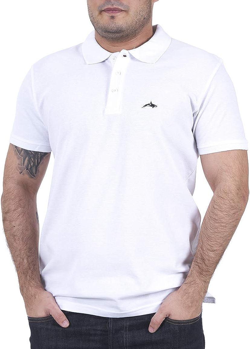 Killer Whale Camiseta de Polo de Manga Corta para Hombre