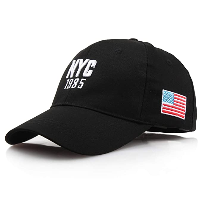 ANDERDM New NYC 1985 Hat Make America Great Again Hats Women Caps Flag Caps  USA Baseball 61de5523a4