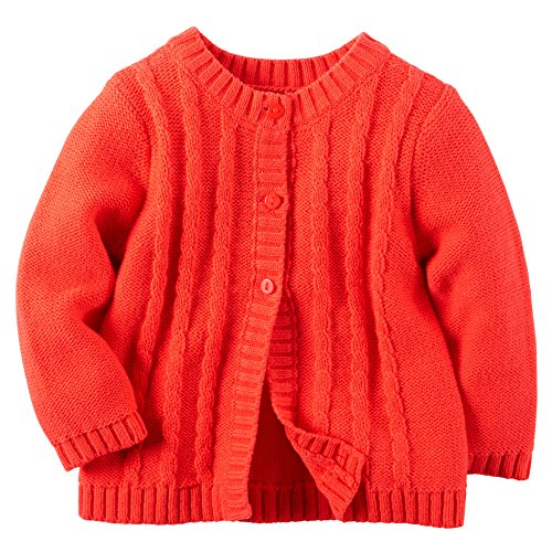 Carter's Baby Girl's Cable Knit Cardigan (9m, (Signature Cable Knit)