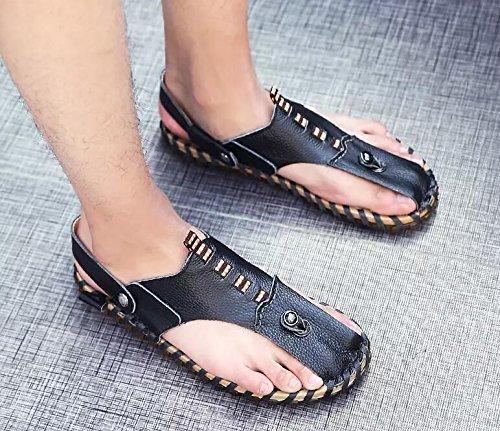 Xing Lin Flip Flop De La Playa Nuevo Hombre De Sandalias De Playa De Doble Uso Zapatos Verano Hombres Transpirable Zapatos Casual Zapatillas Sandalias Zapatos Marea De Hombres HY107 black