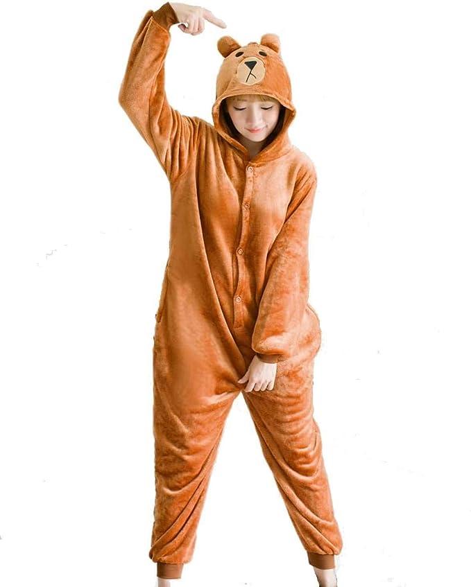 Ducomi Kigurumi Pijamas Disfraces Divertidos - Pijamas Unisex Adulto Cosplay Disfraz de Animal - Peluche Halloween y Carnaval Mujer Hombre - Pijama ...