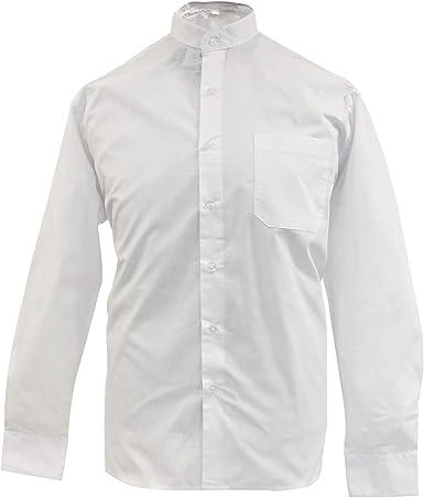 MISEMIYA Camisa Uniforme Camarero Caballero Mangas Cortas