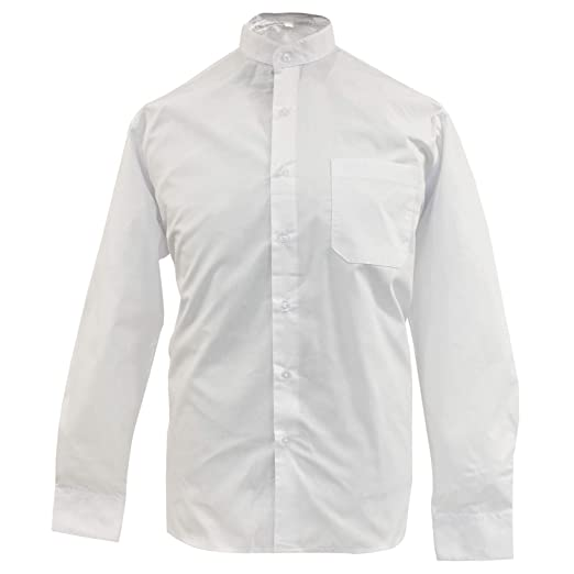 MISEMIYA - Camisa Uniforme Camarero Caballero Cuello Mao Mangas LARGAS MESERO DEPENDIENTE Barman COCTELERO PROMOTRORES - Ref.827-5, Blanco: Amazon.es: Ropa y accesorios
