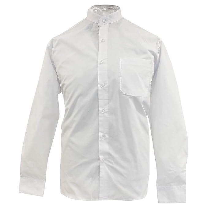 85a6fbf9d6 MISEMIYA - Camisa Uniforme Camarero Caballero Cuello Mao Mangas LARGAS  MESERO DEPENDIENTE Barman COCTELERO PROMOTRORES - Ref.827  Amazon.es  Ropa  y ...