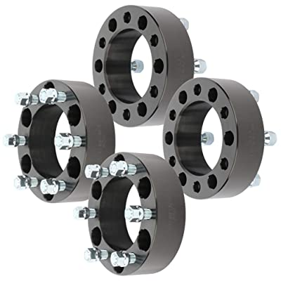 "ECCPP 4x 6 lug 6x139.7mm Wheel Spacers 2"" 50mm 6x5.5 to 6x5.5 (6x139.7mm to 6x139.7mm) 14x1.5 studs compatible with Chevrolet Tahoe Silverado 1500 Suburban GMC Sierra 1500: Automotive"