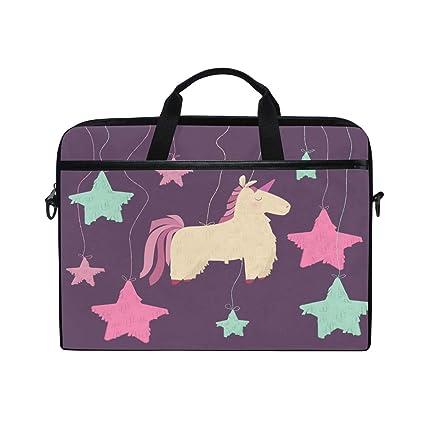 414ac8b31b7 Laptop Computer Bag Stars Unicorn Notebook Shoulder Messenger Cases Packs  for Women Men (15-