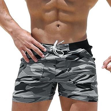 Logobeing Bañadores Verano Pantalones Cortos para Hombre Fitness ...