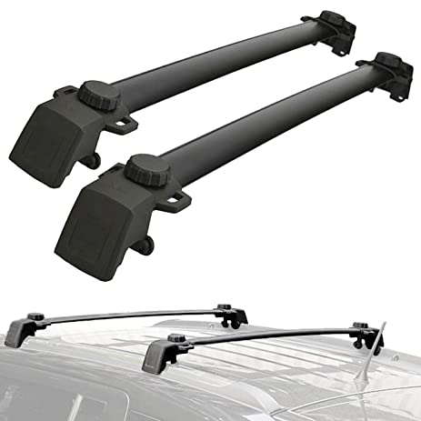 ALAVENTE Roof Rack Cross Bars System For JEEP Compass 2011 2016 (Pair, Black