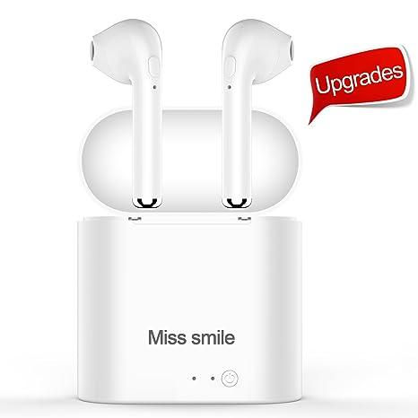 MISS SMILE Diogenes - Auriculares inalámbricos con Bluetooth para Todos los Dispositivos Bluetooth