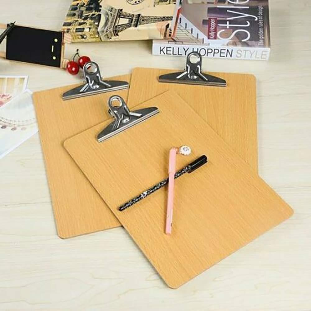 GK 10 X A4 Clipboard in legno Foro sospeso Menu di scrittura Documento Ufficio Clip Bordo rigido Rigido documento rigido