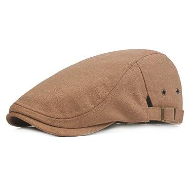 41dfcbc9ddcc2 Driving Hat Vintage Cotton Flat Cap Beret Hat for Mens Women Newsboy Hunting  Hat Outdoor Cap Sunscreen Cap Cap Golf Driving Sun Hat (C)  Amazon.co.uk   ...