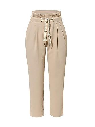 9aa2384954 Simplee Women's Pants Drawstring Waist Straight Pencil Loose Casual Harem  Long Trouser (8 Khaki)