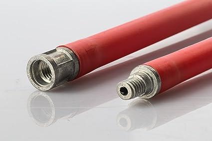 Barra alargador para kit deshollinador Limpieza tubos caña Caños Chimenea Estufa a PELLAS – 1 MT