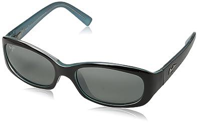 Maui Jim Punch Bowl Sonnenbrille Schwarz mit Blau 219-03 Polarisiert 54mm OmqkmrX