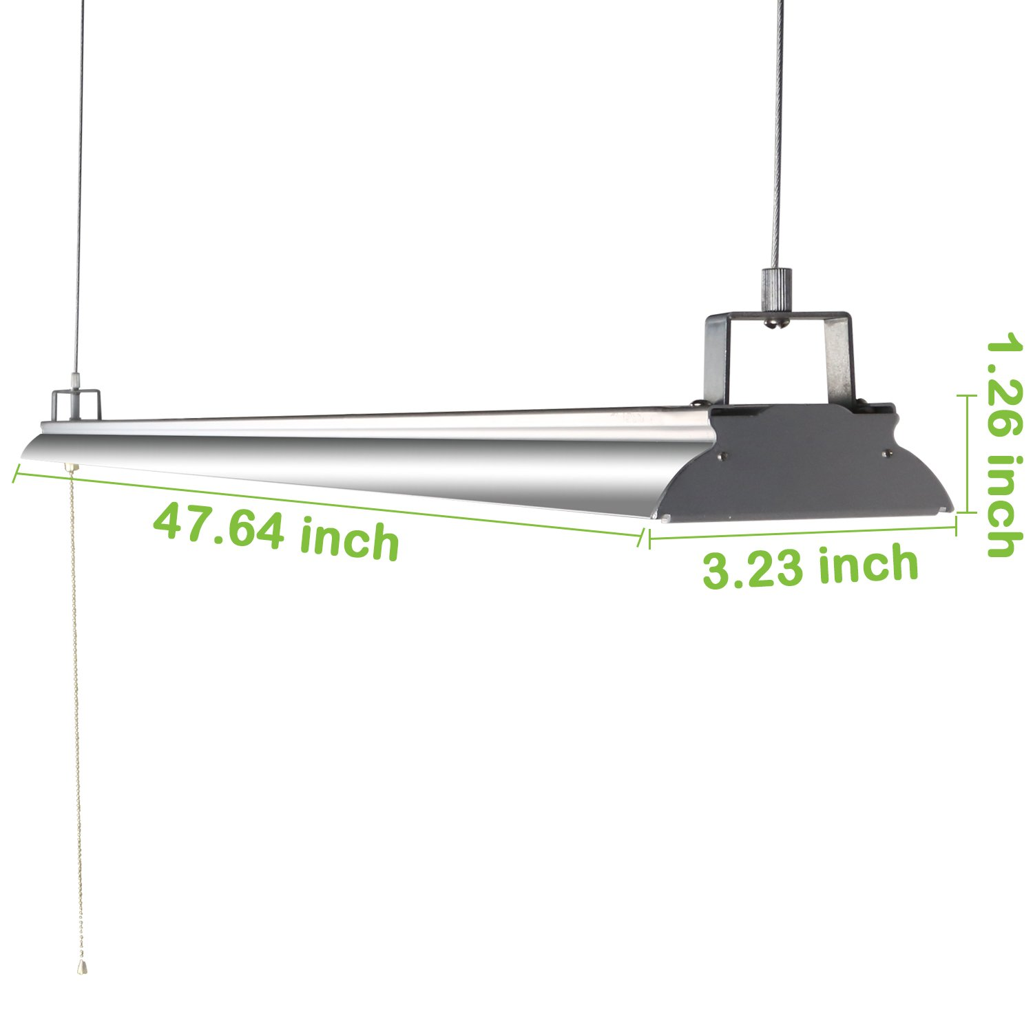Hykolity 4FT 40W LED Shop Light with Pull Chain, 4200lm Hanging Garage Utility Light with Cord, Robust Aluminium Body, 5000K Workbench Light, 64w Fluorescent Fixture Equivalent, 5year Warranty-4 Pack by hykolity (Image #5)