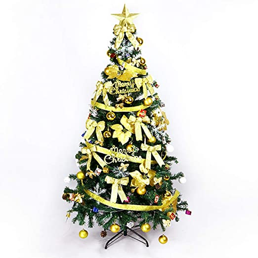 Albero Di Natale Kitchen.Amazon Com Lusso Artificiali Albero Di Natale With Top Star Facile Montaggio Pino Verde Naturale Alberi Di Natale Albero Di Natale Artificiale Pino Con Recinzione In Plastica Bianca Yellow Home Kitchen