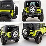 Restyling Factory 07-16 Jeep Wrangler JK Rock Crawler Full Width Rear Bumper w/ 2
