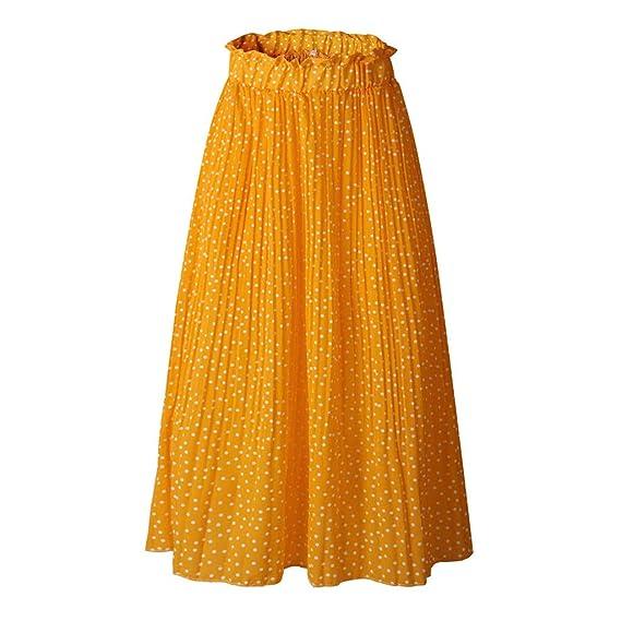 TIFIY Nuevo 2019 Moda Mujer Falda Floral Estampada Vintage Cintura ...