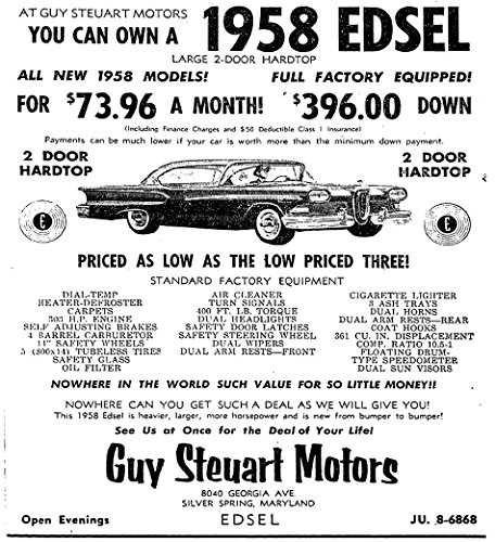 Ford Ad 8x10 Photo - 3