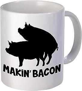 Willcallyou Makin' Bacon Pigs Breakfast 11 Ounces Funny Coffee Mug
