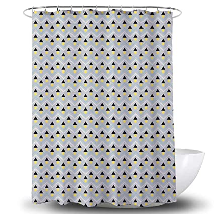 c3a39d52648 Amazon.com  BROSHAN Modern Shower Curtain Black and Yellow