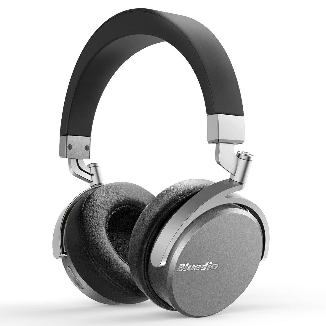 Bluedio Vinyl Cuffie Bluetooth 4.1 On Ear Stereo Con Microfono (Nero e Argento)