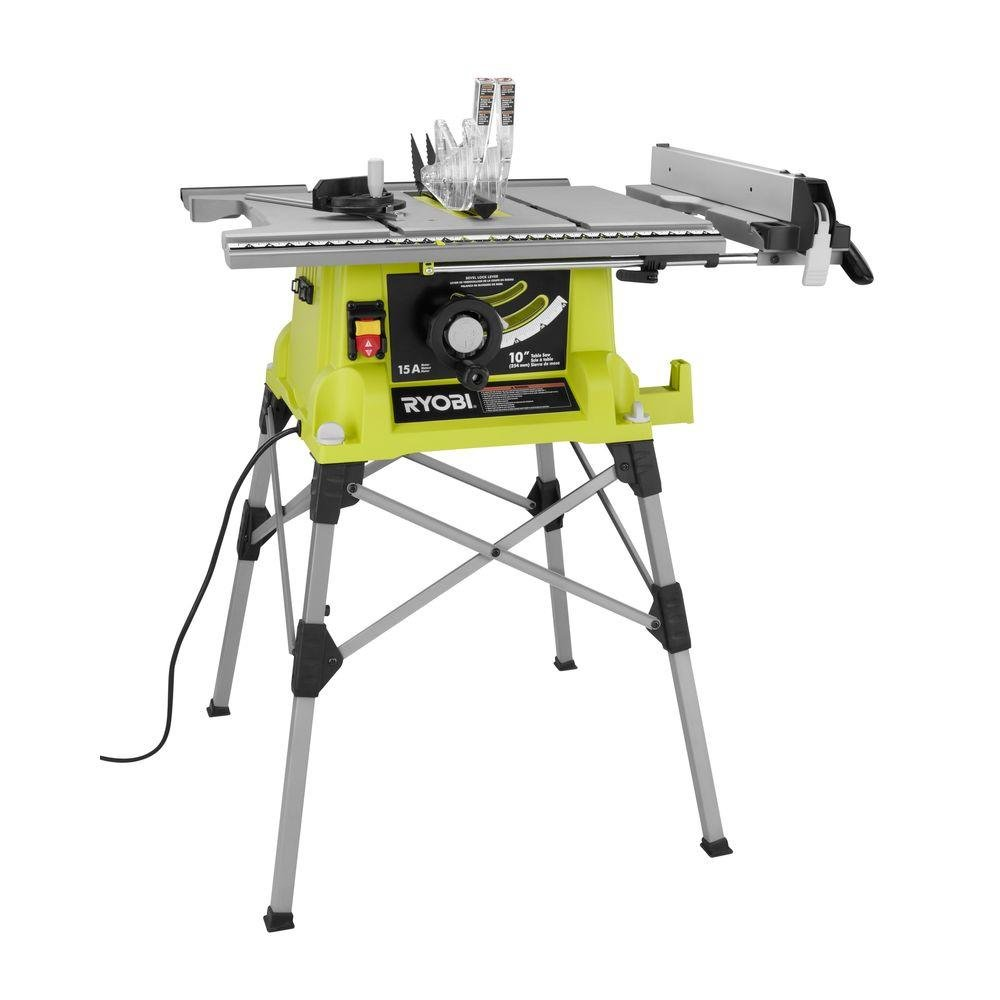 Portable Table Saw With Quick Stand Green     Amazon.com