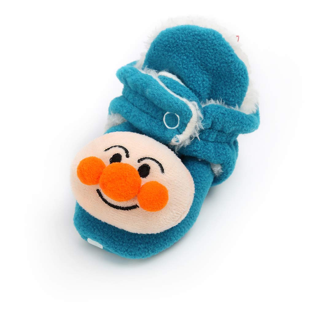 Newborn Baby Boys Girls Cozy Fleece Booties Anti-Slip Socks Soft Sole Toddler Warm Winter First Walkers Crib Shoes
