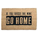 tag - Where's The Wine? Coir Mat, Decorative All-Season Mat for the Front Porch, Patio or Entryway, Black/Natural