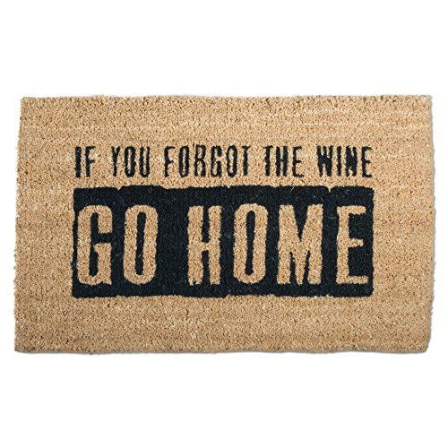 tag - Where's The Wine? Coir Mat, Decorative All-Season Mat for the Front Porch, Patio or Entryway, Black/Natural by tag