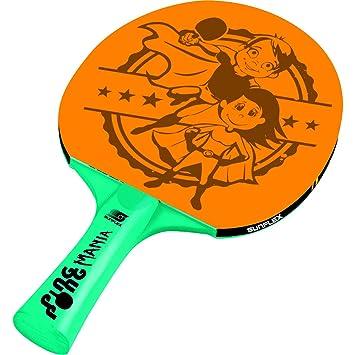 Sunflex Sport Unisex raqueta de tenis de mesa PING PONG Mania, Naranja/Verde, M: Amazon.es: Deportes y aire libre