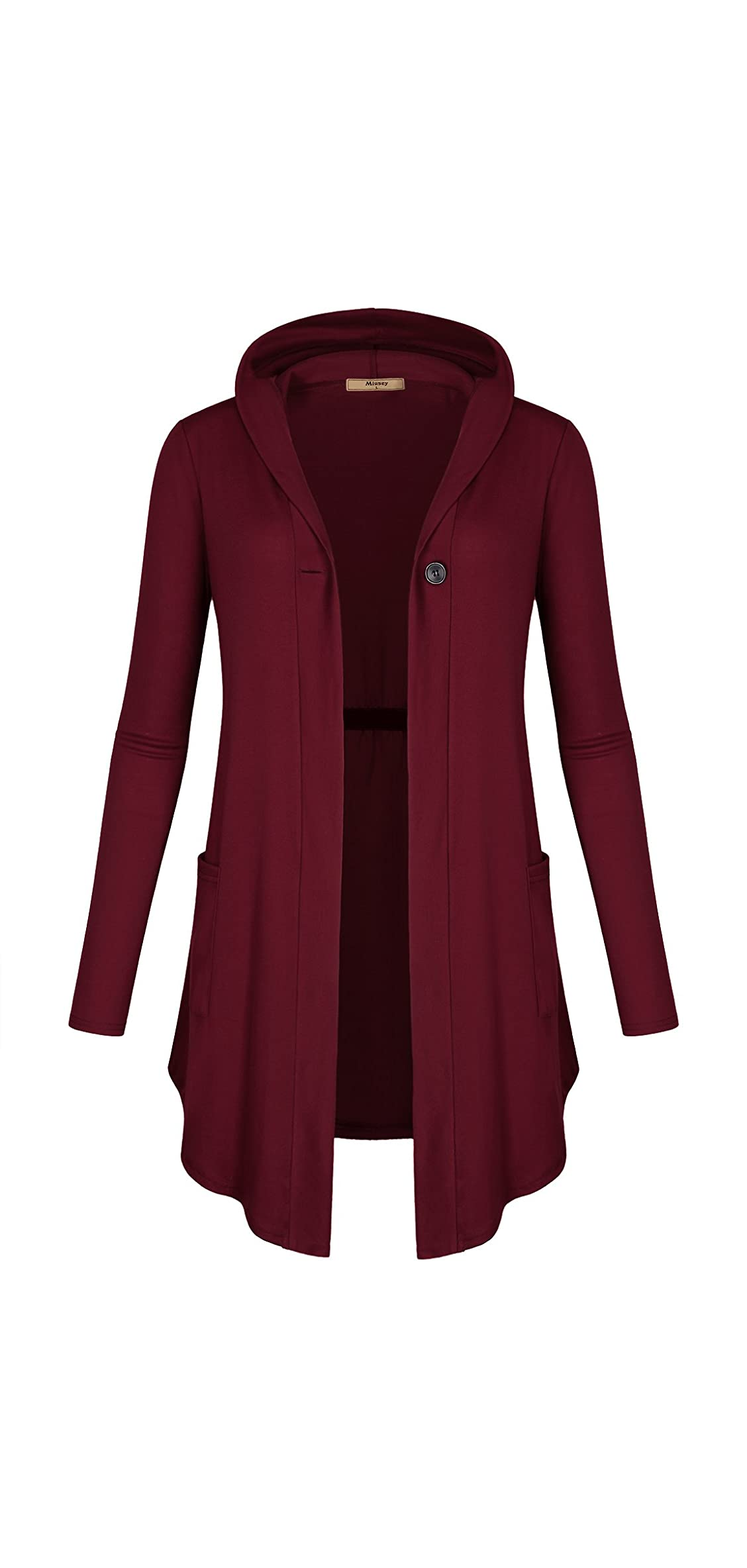 Womens Open Front Cardigan Hoodies Contemporary