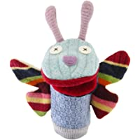 Butterfly Wool Hand Puppet with Moveable Mouth by Cate & Levi - Great for Improving Kids Skills, Storytelling and Imagination